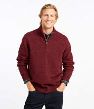 Shetland Wool Sweater, Quarter Zip