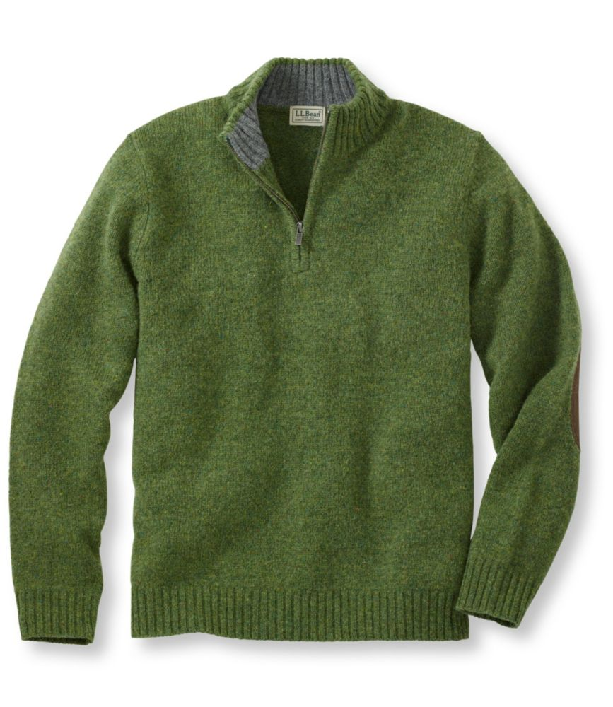 L.L.Bean Shetland Wool Sweater, Quarter Zip