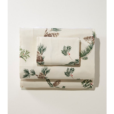 Ultrasoft Comfort Flannel Pillowcases, Evergreen Set of Two