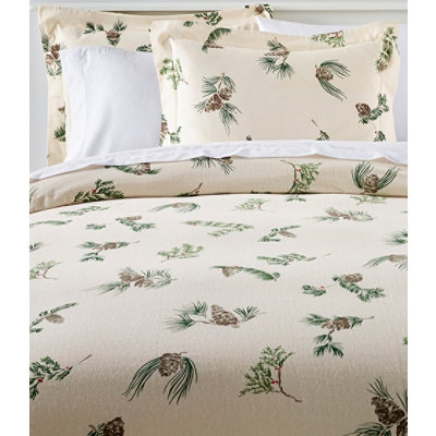 Ultrasoft Comfort Flannel Comforter Cover, Evergreen