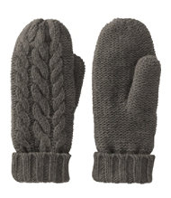 Heritage Wool Mittens, Cable-Knit