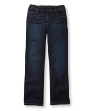 Girls' Double L Jeans, Straight-Leg