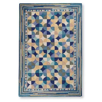 Wool Hooked Rug, Tiles