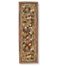 Wool Hooked Rug, Runner Tiles