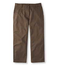 Bayside Twill Pants, Classic Fit Cropped Hidden Comfort Waist