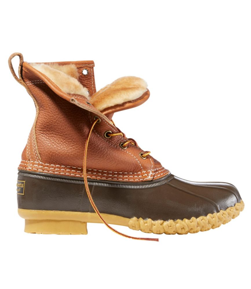 "photo: L.L.Bean Bean Boots By L.L.Bean, 8"" Tumbled-Leather Shearling-Lined"