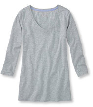 West End Tee, Three-Quarter-Sleeve Scoopneck