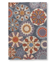 Easy-Care Hooked Suzani Rug