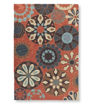 Easy-Care Hooked Suzani Rug 5'x 8'
