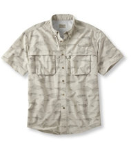 Men's Tropicwear Shirt, Short-Sleeve Fly Print