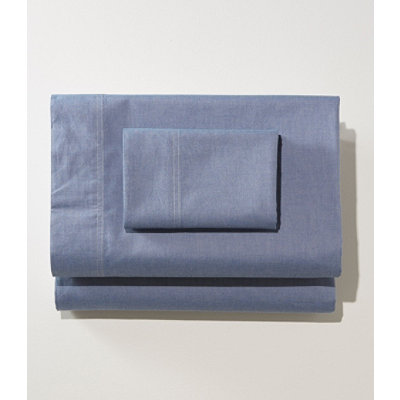Chambray Pillowcases, Set of Two