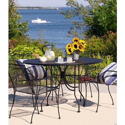 Wrought-Iron Mesh Dining Table, Round