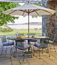 Wrought-Iron Mesh Dining Table, Oval