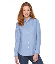 Easy-Care Washed Oxford Shirt, Original Long-Sleeve