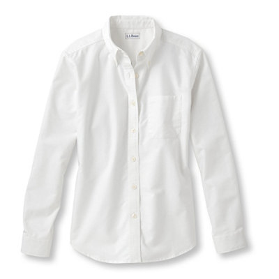 Easy-Care Washed Oxford Shirt, Relaxed Long-Sleeve