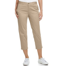 Washed Sateen Pants, Slim-Leg Capris
