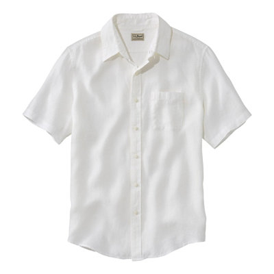 Bean's Linen Shirt, Slightly Fitted Short-Sleeve