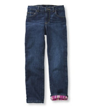 Girls' Double L� Jeans, Lined Straight-Leg