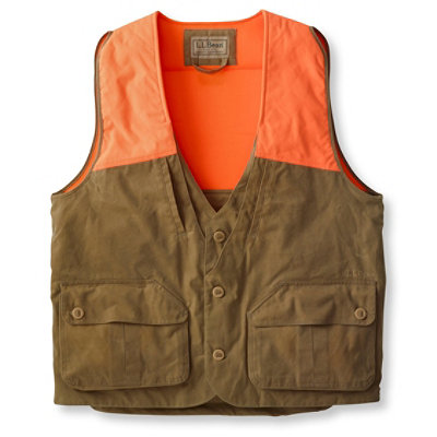Men's Double L� Upland Hunter's Vest, Waxed Cotton