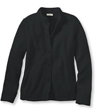 Bean's Comfort Fleece, Button-Front Jacket