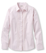 Wrinkle-Resistant Pinpoint Oxford Shirt, Pin-Tucked