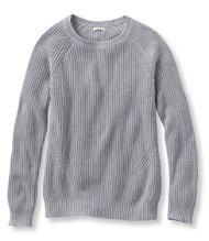 Bean's Shaker-Stitch Pullover Crewneck Sweater