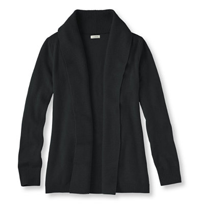 Classic Cashmere Sweater, Open Cardigan