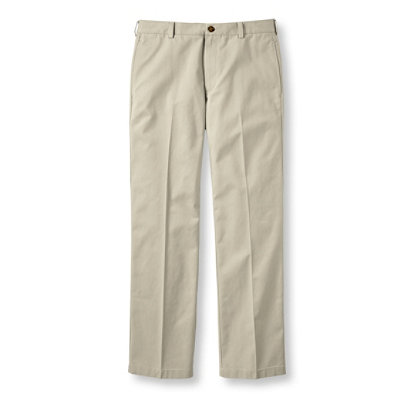 Double L Chino Pants, Standard Fit Plain Front