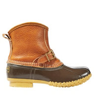 "Women's Tumbled-Leather L.L.Bean Boots, 7"" Shearling-Lined Lounger"