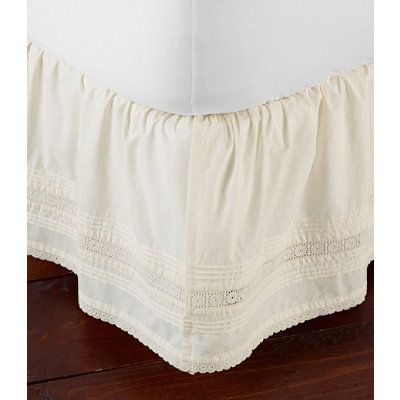 Sunwashed Pintuck Bedskirt