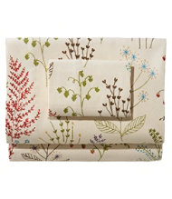 Botanical Floral Flannel Pillowcases/Set of Two
