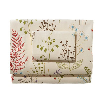Ultrasoft Comfort Flannel Pillowcases, Set of Two Botanical Floral