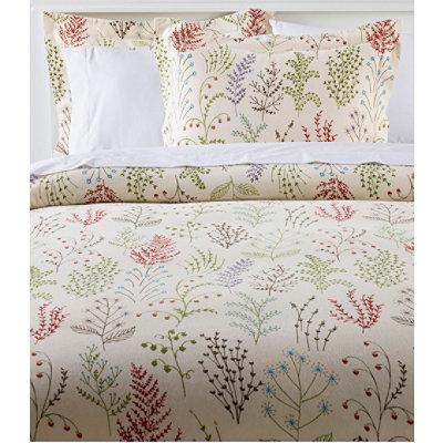 Botanical Floral Flannel Sham