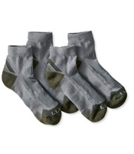 Men's All-Sport PrimaLoft Socks, Lightweight Quarter Crew, Two-Pack