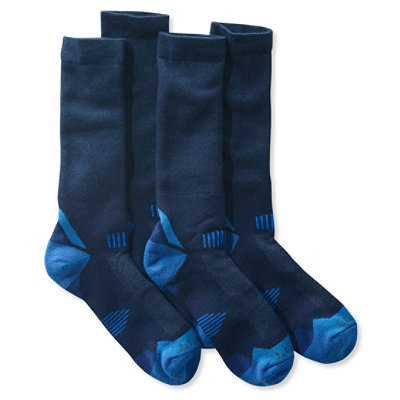 Men's All-Sport PrimaLoft Socks, Midweight Crew Two-Pack