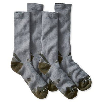 Men's All-Sport PrimaLoft Socks, Midweight Crew, Two-Pack