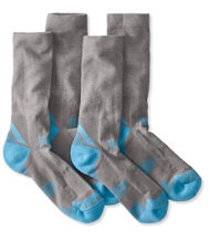Women's All-Sport PrimaLoft Socks, Lightweight Crew 2-Pack