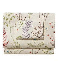 Botanical Floral Percale Pillowcases, Set of Two