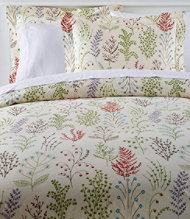 Botanical Floral Percale Comforter Cover