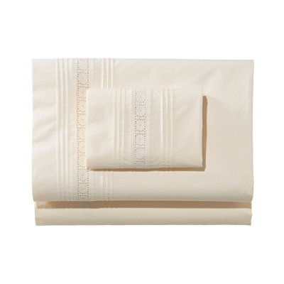Sunwashed Pintuck Sheet Set