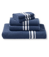 Textured Cotton Towels, Stripe