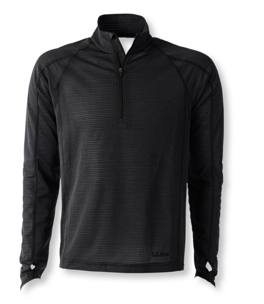 photo: L.L.Bean Men's Power Dry Stretch Base Layer, High-Efficiency T-Zip