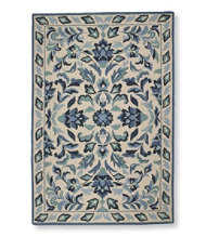 Wool Hooked Rugs, Cottage Floral