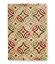 Wool Hooked Rug, Star Tile