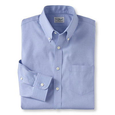 Wrinkle-Resistant Pinpoint Oxford Cloth Shirt, Solid Slim-Fit