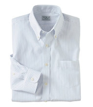 Wrinkle-Resistant Pinpoint Oxford Cloth Shirt, Stripe Slim-Fit
