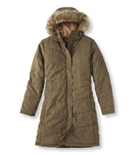 Microsuede Quilted Coat