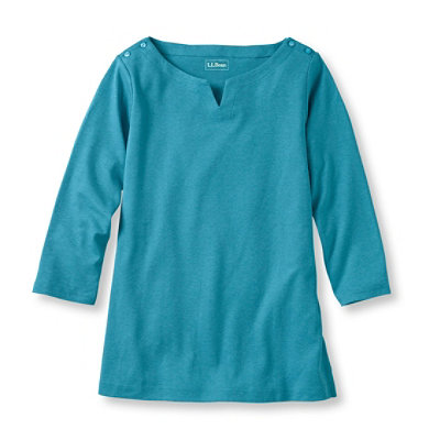 Bean's Three-Quarter-Sleeve Boatneck Tunic