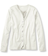 Women's Pima Long-Sleeve Button-Front Cardigan