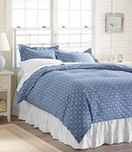 280-Thread-Count Pima Cotton Percale Comforter Cover, Print